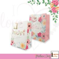 Mothers Day Gift Bag With Tag - Large  I Love You Mum Birthday Gift Bag UK