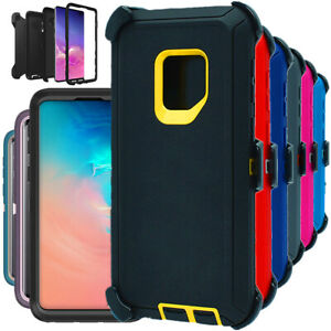 For Samsung Galaxy S9 S9+ Plus Shockproof Hard Rugged Case Cover with Belt Clip
