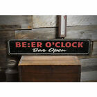Beer O Clock Novelty Distressed Sign, Personalized Wood Sign