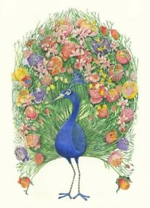 Peacock Greeting Card by The DM Collection