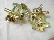 Set Of 2 Antique Collectible Nautical Brass Working German Marine Sextant Gift