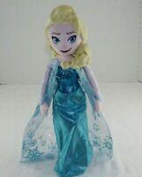 "Elsa Princess Queen Plush Stuffed Blue Toy Girl Disney Dress Doll 18"""