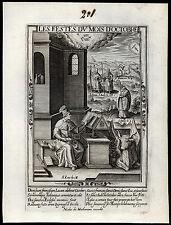 santino incisione 1600*sacro zodiaco ottobre-scorpione SS.LUCA EV.DIONIGI FR.