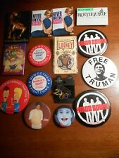 Vintage Movie and Other .Assortment of Collectible Pinbacks
