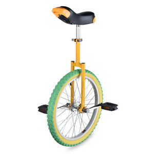 "20"" Unicycle Cycling Circus Bike Skidproof Youth Adult Balance Exercise"