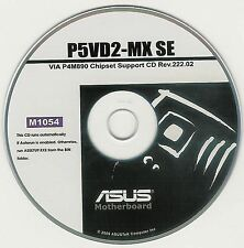 ASUS P5VD2-MX SE Motherboard Drivers Installation Disk M1054