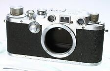 LEICA LEITZ IIIC SHARKSKIN SS 35MM FILM RANGEFINDER LTM CAMERA BODY No. 467074