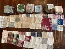 New Listing500 +/- antique patchwork quilt 3� square pieces plus two pieced strips