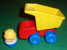 Vintage Little Tikes Dump Truck & Toddle Tot w/Hard Hat Toy
