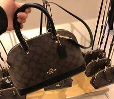 NWT Coach Signature Mini Sierra Satchel Handbag F58295 - Brown Black