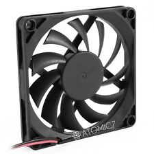 YOC 80mm 2 Pin Connector Cooling Fan for Computer Case CPU Cooler Radiator