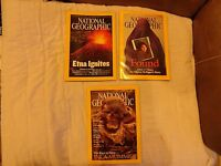 National Geographic 2002 Bundle with 2 Inserts and 9 Issues- No Jan.,March,July,