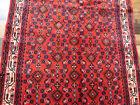 "3'4""x5' Excellent fine Authentic Handmade wool Oriental Bidjar area rug Vintage"