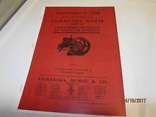 Fairbanks Morse Type H Gas Engine Instruction Manual # 2158 1911 Reprint