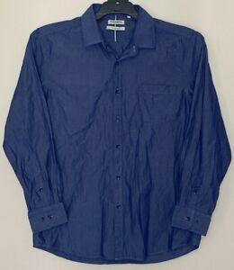 Hush Puppies Mens Size XL Casual Dress Shirt Long Sleeve Standard Fit Cotton Top