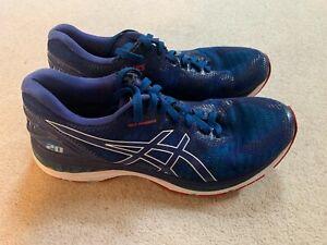 Asics Gel Nimbus 20 men's running trainers in blue/red - size 11