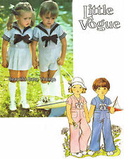 Vogue Toddler Shirt Skirt Pants Shorts SEWING PATTERN Sailor Suit Size 2-3 COPY