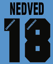 Lazio Nedved local Camiseta De Fútbol Número Letra H 96 maglia Umbro de fútbol de calor