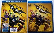 DC COMICS THE LEGO BATMAN MOVIE BLU RAY + DVD 2 DISC SET & SLIPCOVER FREE SHIPPI