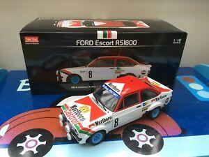 Sunstar 1/18th 4458 Ford Escort MK2 RS 1800 1978 Swedish Rally Ari Vatanen
