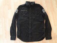 Men's MMA Elite M Collared Black Shirt L/S