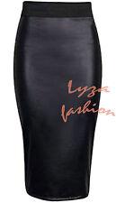 WOMENS WETLOOK PVC SEXY BODYCON DRESS MINI SKIRT TOP LEGGINGS  SIZE 8-14