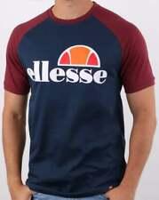 Ellesse T Shirt in Navy & Burgundy - short sleeve crew neck tee, Cassina SALE