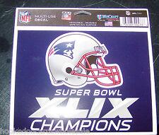 "New England Patriots 2014 Super Bowl 49 Champions 5""x6"" Color Ultra Decal"