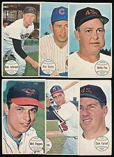 1964 Topps Giants *Lot of 6 Different* -NELLIE FOX, JOE TORRE, RON SANTO, Etc.