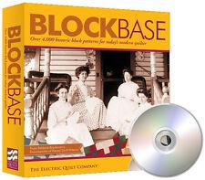 BLOCKBASE Electric Quilt Block Base Software NEW Barbara Brackman 4300+ Patterns