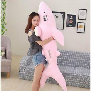 50cm - 180cm Soft Giant Shark Plush Toy Big Shark Pillow Stuffed Animals Doll