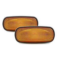 Amber Front Side Marker Light Lens Pair For 2003-2014 Dodge Ram 1500 2500 3500