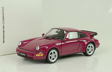 1990 PORSCHE 911 964 Turbo Stella RUBINO 1:24 Welly Museo Map