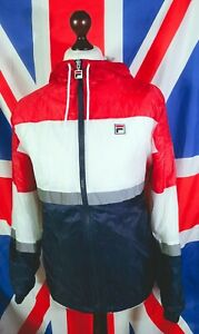 Fila Panel Lightweight Hooded Jacket - M/L - White - Mod Casuals 60's