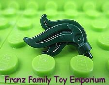New LEGO Feather / Flame Dark Green Helmet PLUME Head Gear Part