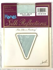 Hanes Silk Reflections Control Top Pantyhose Aquamarine Blue 717 Size AB NWT New