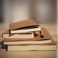 ❤32K Drawing Kraft Paper Diary Notebook Diary Sketch White Sketchbook Note Blank