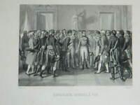 Gravur Bonaparte Consul Links -leben Nach Raffet Von Moret Bei Weile
