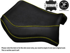 GRIP CARBON YELLOW STITCH CUSTOM FITS YAMAHA MT 03 06-14 FRONT SEAT COVER