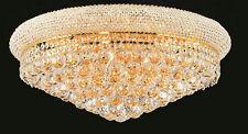"World Capital Bangle 24""  Crystal Chandeliers Flush Mount Light Gold"