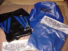 2004 HONDA CBR 600RR  2-Pc SEAT COVER SKINS & TANK BRA Blue/Black SECOND LOOK