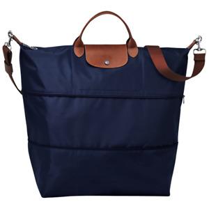 Longchamp Le Pliage XXL Expandable TRAVEL BAG Navy Blue Authentic