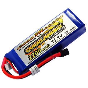 Overlander Lipo Battery 2200mAh 3S 11.1v 35C Supersport Deans Plug Li-Po 2567