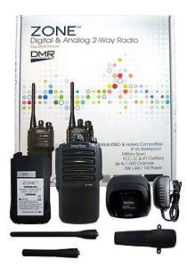 Blackbox ZONE-U 4W 32CH 400-470MHZ Uhf Dmr Numérique & Analogique Deux Voie