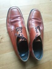 Van Bommel Holland..Tan All Leather Brogue SHOE Handmade Size 8.5 Uk Rrp £249