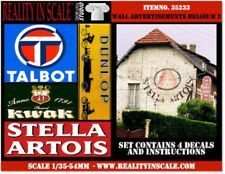 Reality In Scale 1:35 Wall Advertisement Decal 1930-50s Belgium Set 2 4pc #35233