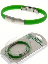 Celtic FC Edelstahl verein-kamm Armband bunt Silikon-Armband Geschenk