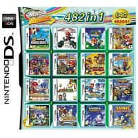 482 in 1 NDS Game Pack Card Mario Album Cartridge for Nintendo DS 2DS 3DS -Local