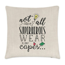 Teacher Not All Superheroes Wear Capes Linen Cushion Cover Pillow - Funny