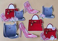 Handbags & Heels Card Making Toppers -  Die Cut Set of 7 Pieces  - Crafts